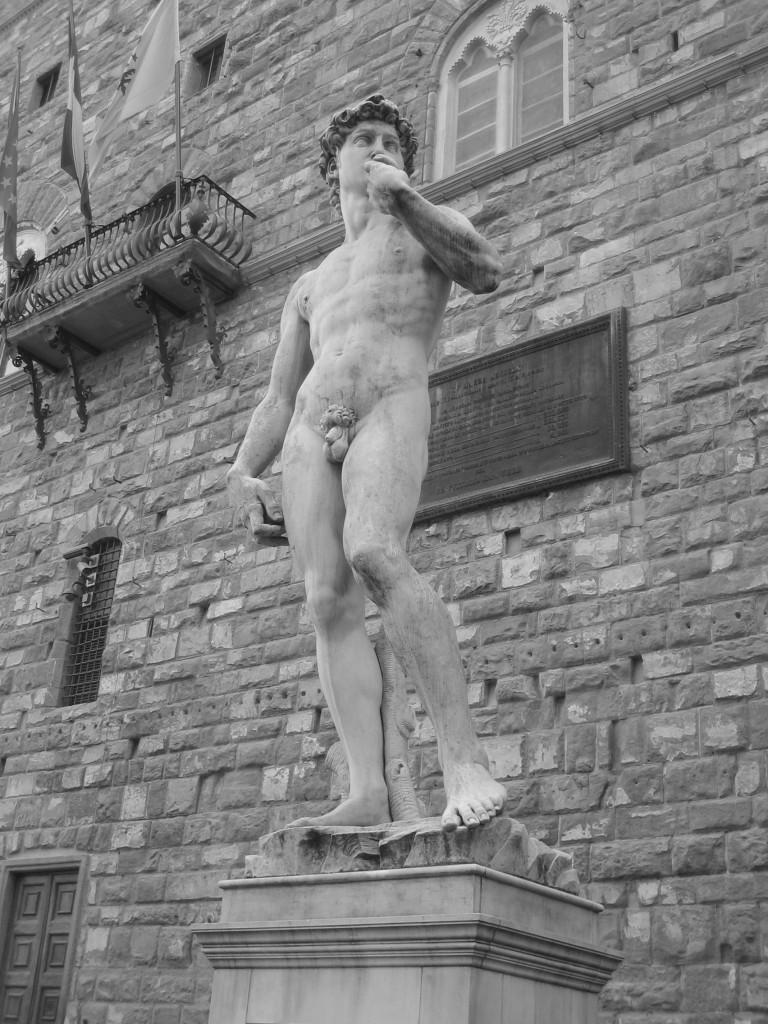 David von Michelangelo am Palazzo Vecchia